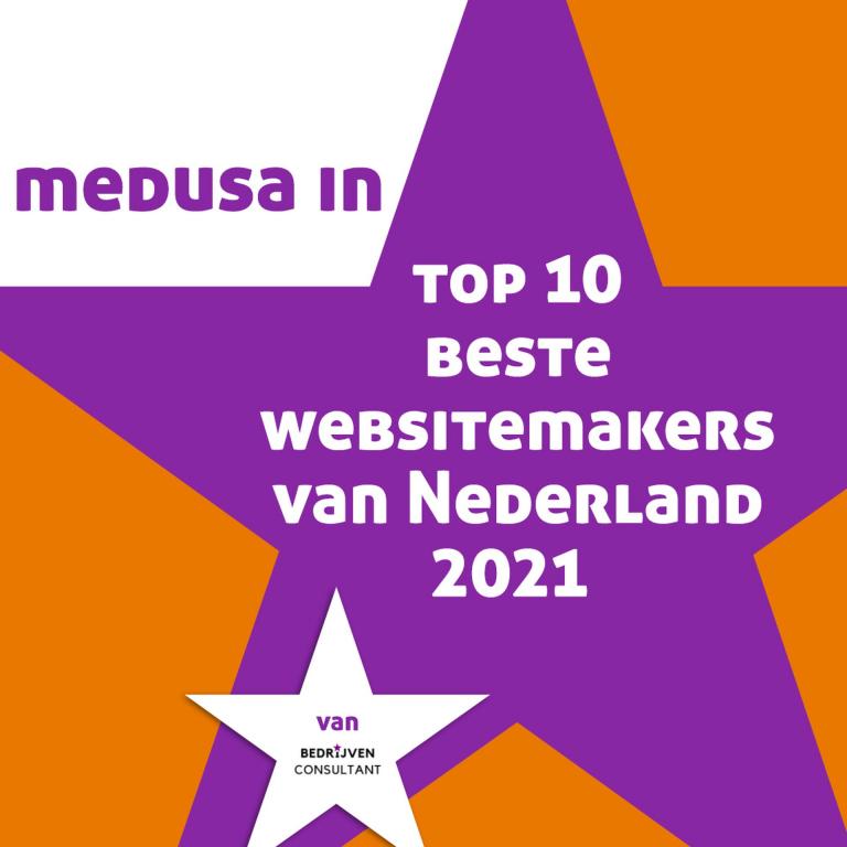 Medusa in top 10 beste websitemakers van Nederland